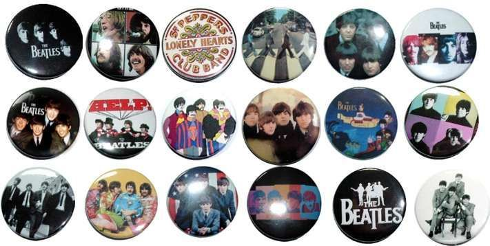 18 THE BEATLES BADGES BUTTONS PINS 1 INCH 25mm (lot)