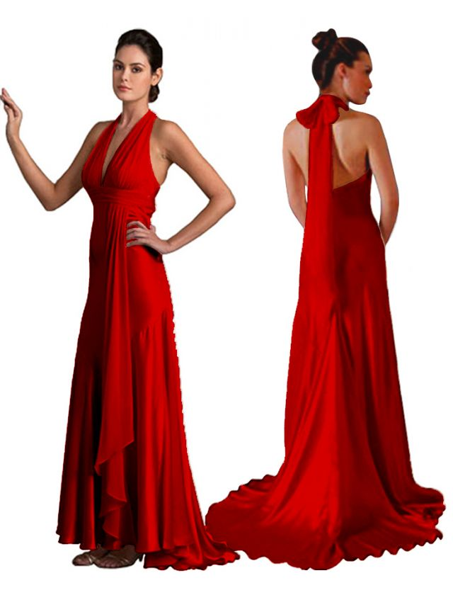Formal 4 colors wedding prom party maxi gown evening dress US 6 18
