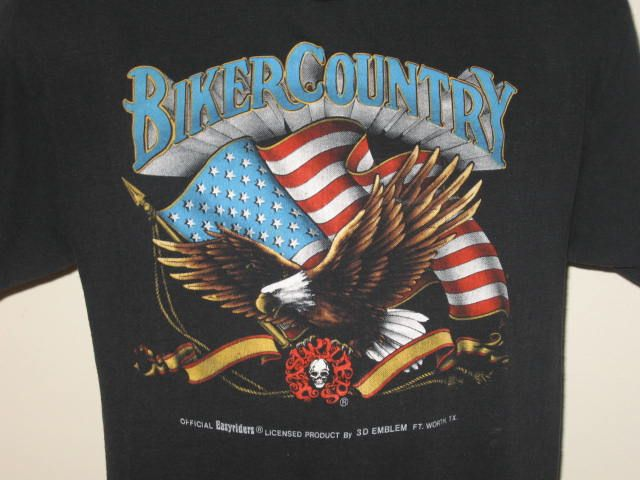 EASYRIDERS BIKER COUNTRY T Shirt motorcycle bike eagle usa