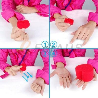 Magic Trick Toy   Jumbo Sponge Heart, Special for Valentines Day Gifts